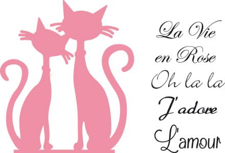COL1344 ~ FRENCH CATS and sentiments  ~ Marianne Design Collectables